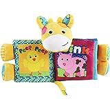 TOYMYTOY Puzzle Animaux Tissu Livre Bébé Jouets Tissu Début Développement Livres Cadeaux pour Bébés (Cartoon Deer)