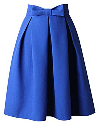 Bestfort Damen Hepburn Kleid Knielange 2018 Hohe Taille Schöne Kleider  Frauen Rock Mode A Linien Rock Bowknot Faltenrock Röcke Sommerröcke   Amazon.de  ... 06520fe900