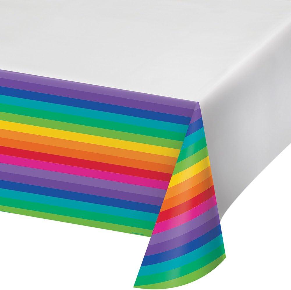 "Creative Converting 725972 Plastic Tablecover, 54"" x 102"", Multicolor"