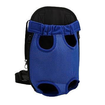 YOUJIA Mochila Bolsa para Perro Gato Mascota, Bolsa de Transporte con Gancho y Correa Ajustable Azul, S (28*18cm): Amazon.es: Hogar