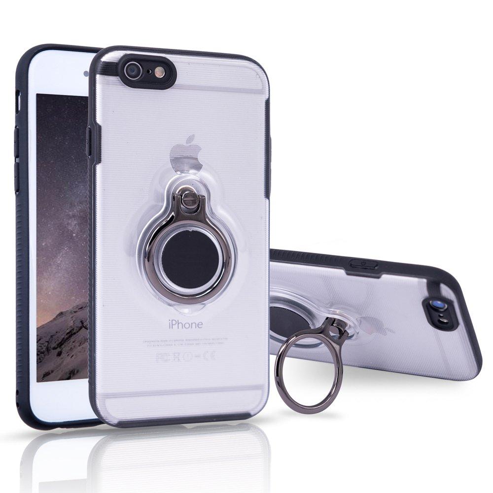 iPhone 7 Plusケース、iPhone 8 Plus保護カバーキックスタンド付きwith Magnetic Car Mount withグリップ回転リングホルダースタンドfor iPhone 7 / 8 Plus クリア ip-case-zjtm-78p B0773KN1PH クリア クリア