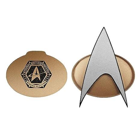 Star Trek Next Generation Bluetooth Communicator Badge - TNG Combadge with  Chirp Sound Effects Microphone & Speaker - Enterprise Memorabilia, Gifts,