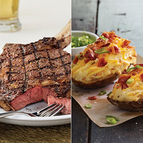 Kansas City Steaks 6 (18oz.) Bone-In Ribeyes and 6 (8oz.) Twice Baked Potatoes (Steak Baked Potato)