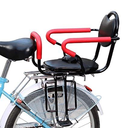 JTYX Sillín de Bicicleta Infantil Trasero con cinturón de ...