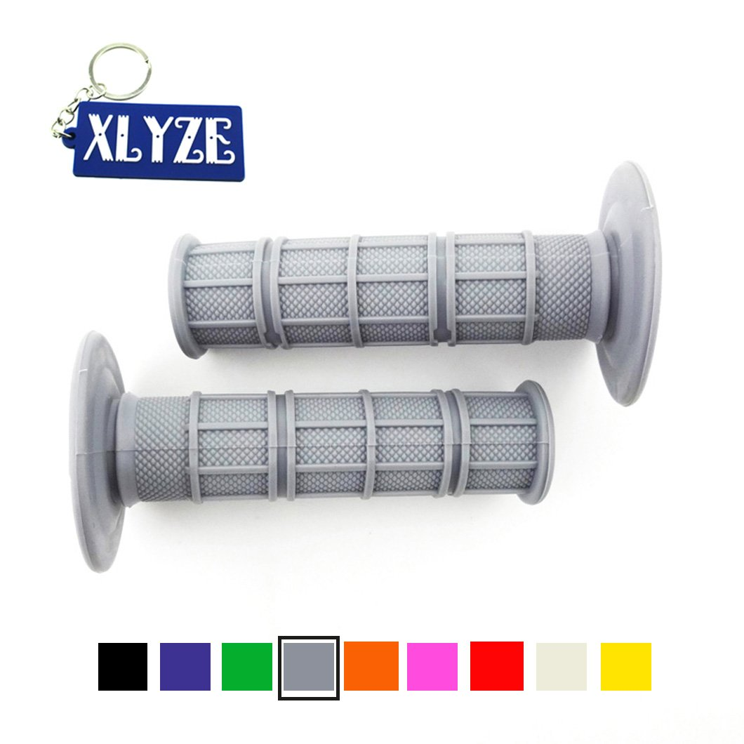 XLYZE Grey Universal 7//8 22mm Throttle Handle Grips Soft Rubber for 50cc 70cc 110cc 125cc Pit MX Dirt Bike CRF50 XR50 Apollo Taotao Coolster