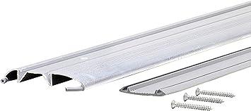 x 1-3//8 W x 7//16 H 36 in L X 1-3//8 in W M-D Building Products 8243 M-D 0 Low Mini Heavy Duty Threshold with Replaceable Vinyl Insert Aluminum