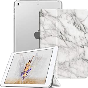 Fintie Case for iPad Mini 3/2 / 1 - Lightweight Smart Slim Shell Translucent Frosted Back Cover Protector Supports Auto Wake/Sleep for iPad Mini 1 / Mini 2 / Mini 3, Marble
