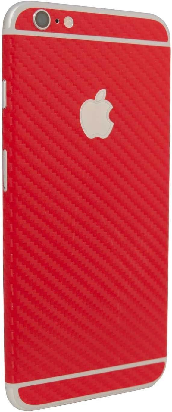 stika.co Vinilo Autoadhesivo de Fibra de Carbono Rojo con Textura para iPhone 6/6S de 4,7 Pulgadas