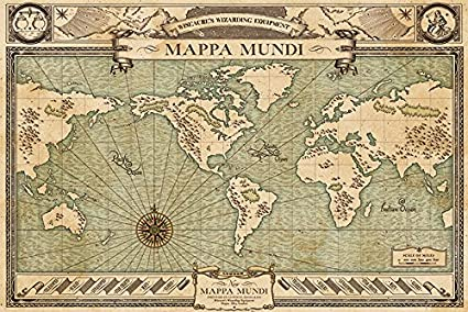 Amazon fantastic beasts and where to find them movie poster fantastic beasts and where to find them movie poster print mappa mundi gumiabroncs Choice Image