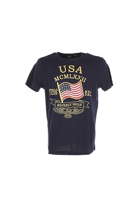 BEVERLY HILLS POLO CLUB - Camiseta - para Hombre Azul Azul: Amazon ...