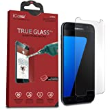 iCarez Premium Tempered Glass Screen Protector for Samsung Galaxy S7 9H Anti-Scratch Easy Install with Lifetime Replacement Warranty - [1-Pack] Retail Packaging