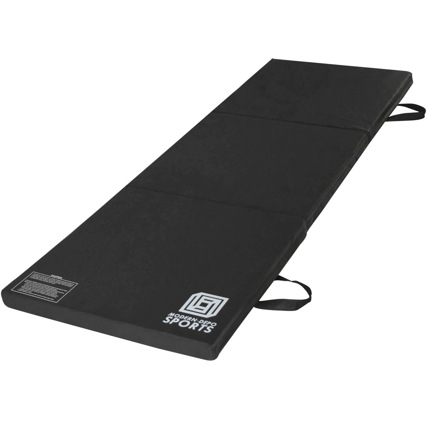 Modern-Depo Gymnastics Mat Tri-Fold 6'X2'X2 Thick with Handle, Waterproof Cover, 100% EPE Core (Black) by Modern-Depo (Image #2)