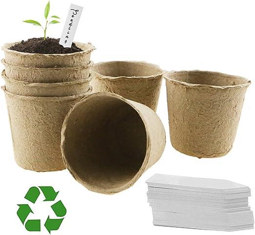 LFS Macetas biodegradables de Fibra sin turba para Semillas ...