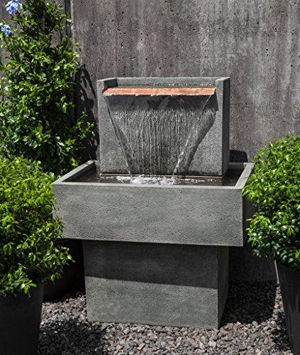 Campania International FT-286-AS Falling Water I Fountain, Alpine Stone Finish (Outdoor Falling Water Fountain)