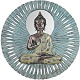 Buddha wall decoration in patinated resin 59 cm