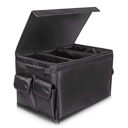 Arkmiido Organizador Maletero Coche con Tapa Extraíble,Plegable Bolsa de Almacenamiento Coche Caja para Coche, SUV, camión