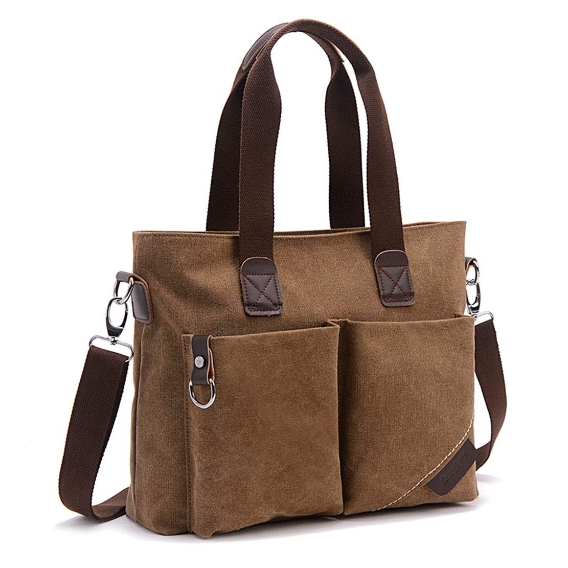 ToLFE Women Top Handle Satchel Handbags Tote Purse Shoulder Bag (Coffee)