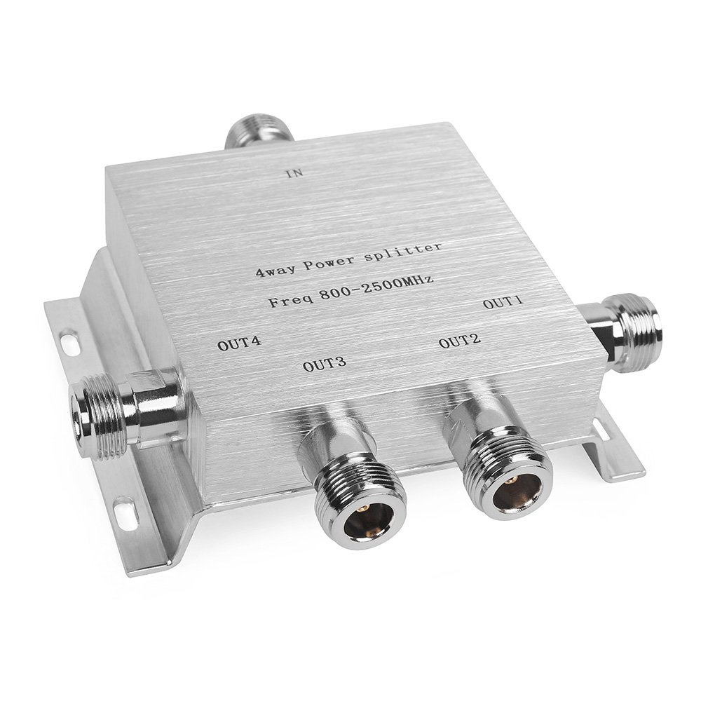 Image result for 4 WAY POWER SPLITTER (Freq 800-2500Mhz) 1in 4 out