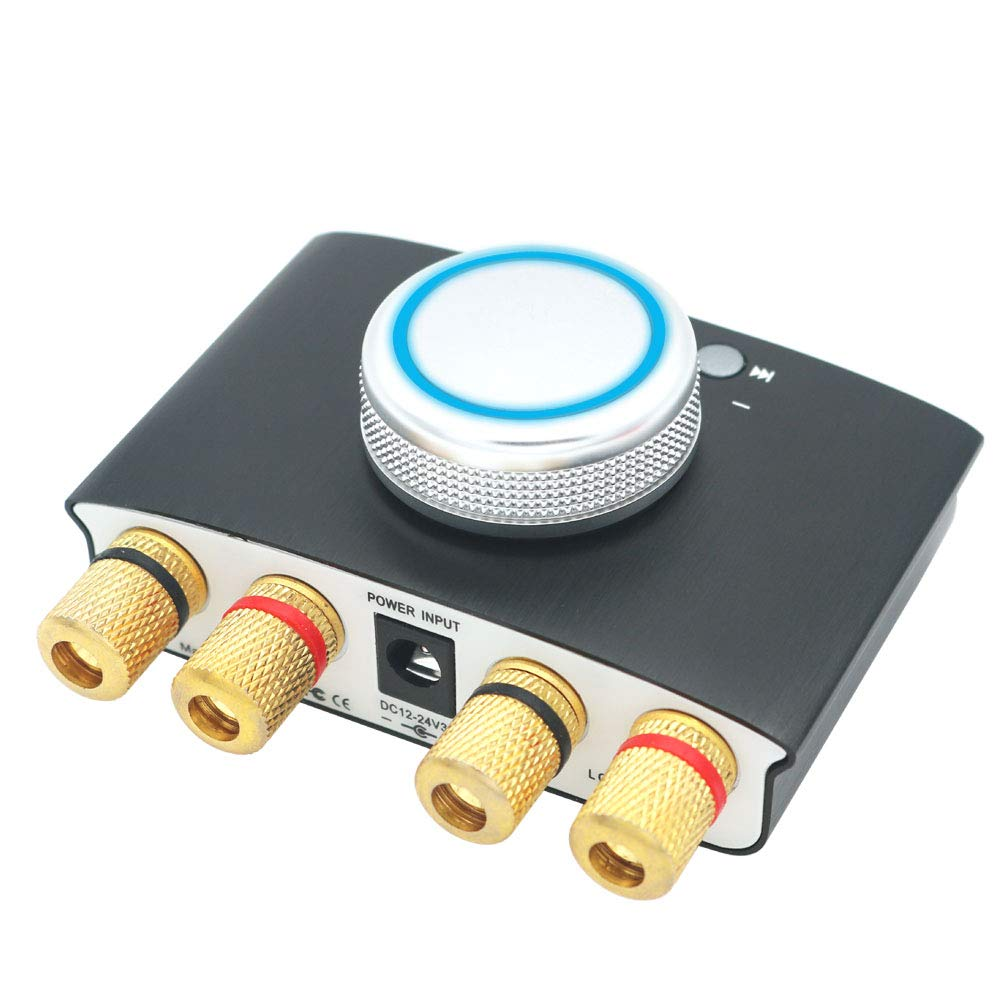 Fuente de alimentaci/ón DollaTek Lepy LP-168mini Bluetooth 4.2 Amplificador de Audio Digital 50Wx2 HiFi Amp TPA3116 AUX//USB//Bluetooth Rojo