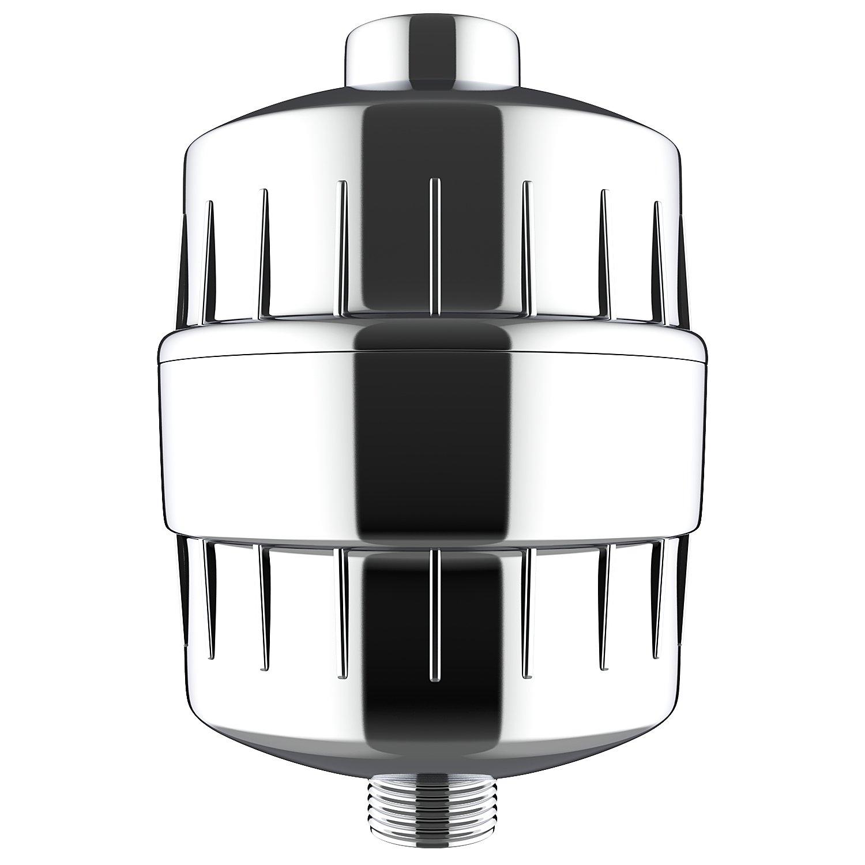 BATHWA Duschkopf Filter Hochleistungs-Universal-Duschfilter mit austauschbarer Filterpatrone Chrom