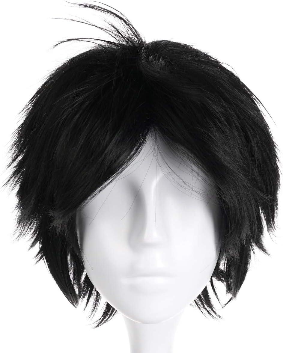 Corto Nero CoolChange Parrucca di Dabi di My Hero Academia
