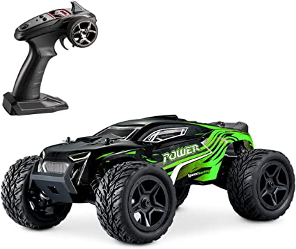 Amazon Com Hosim Rc Cars 1 14 4wd Monster Truck 36 Kmh High Speed Electric Remote Control Car 4x4 Rc Offroad Buggy All Terrain Waterproof Car Vehicle Rc Toys Cars For Kids And Adults Green
