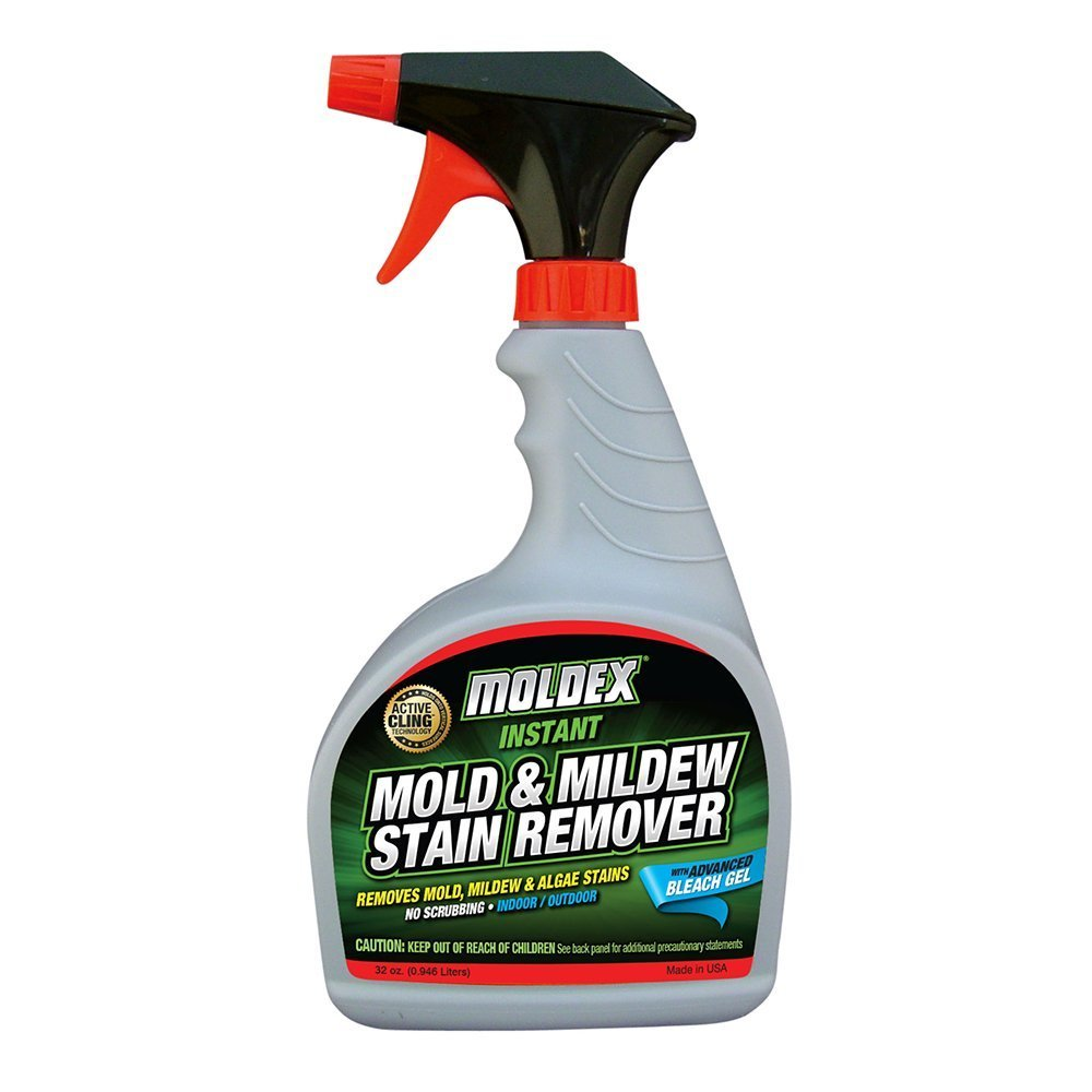 Moldex 7010 Mold & Mildew Instant Stain Remover Trigger Sprayer, 32 oz - Pack of 4
