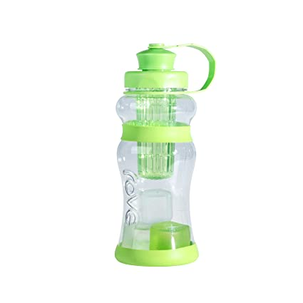 499cea4b9dd9 Rove 40oz Single Wall Tritan Bottle with Infuse and 3 Medium Reusable Ice  Cubes and Non Slip Silicone Grip and Bottom - Big Girl