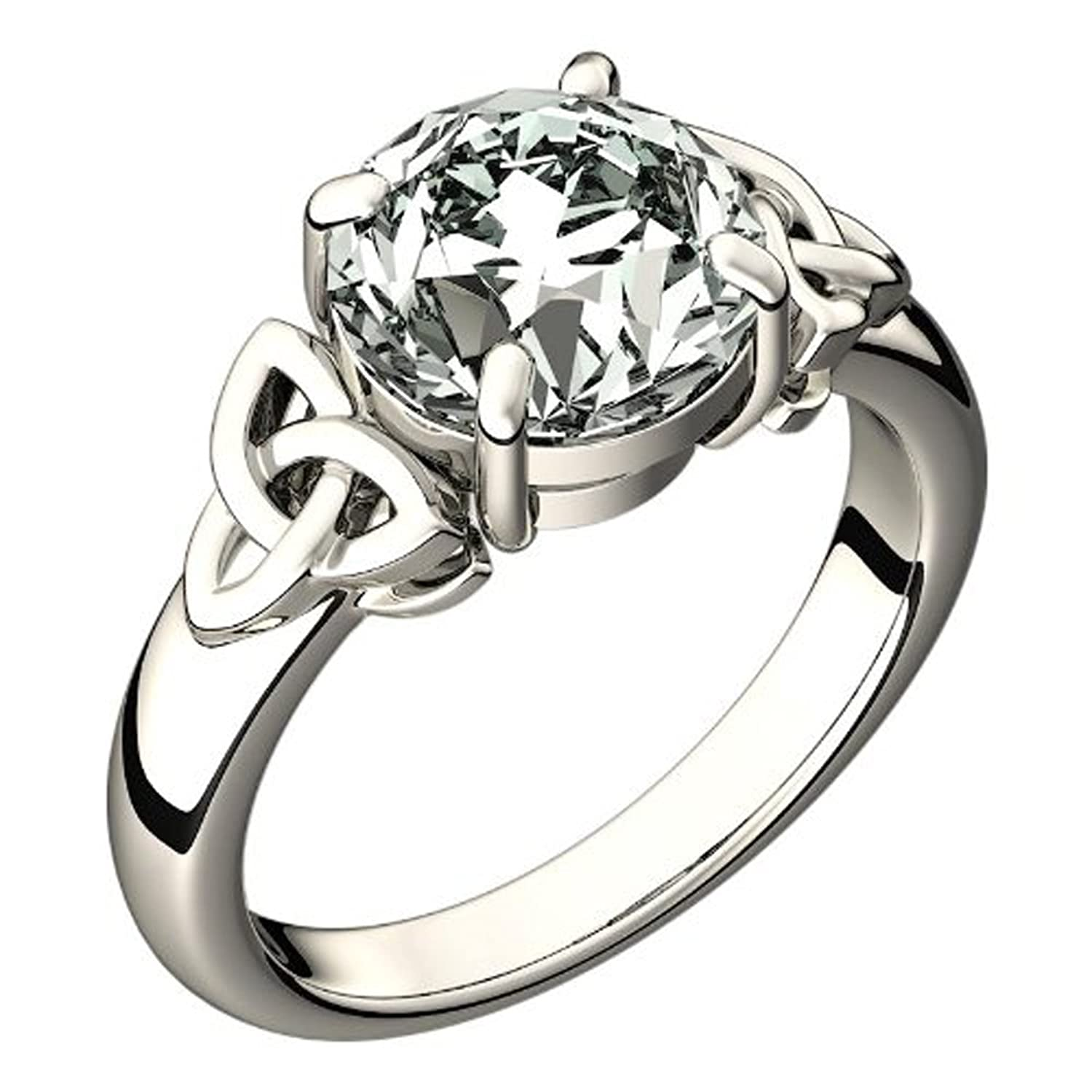engagement best knot carat ring solid of rings cut round diamond celtic