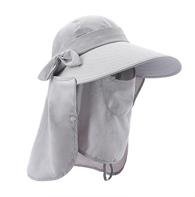 Bhwin Women s Outdoor Summer Fishing Sun Hat UPF50+ Sun Visor Foldable Wide  Brimmed UV Protection Hat 3d819f1fd3b0
