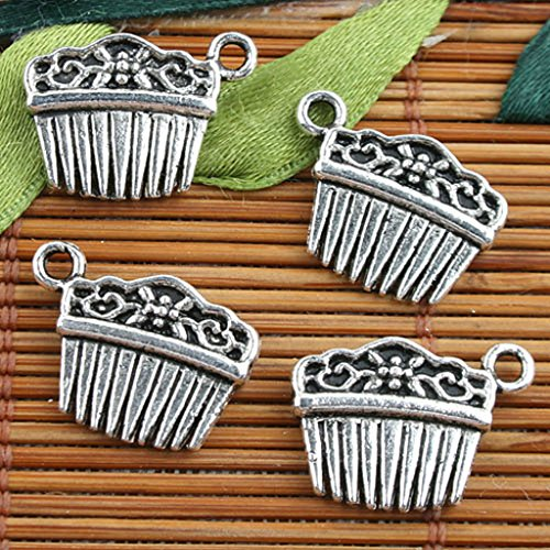 Tibetan Silver Pin Hair (70pcs Alloy Metal Tibetan Silver Color 2sided Hairpins Style Charms F9660)
