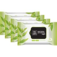 Peesafe Natural Intimate Wipes - 10 Count (Pack of 4)