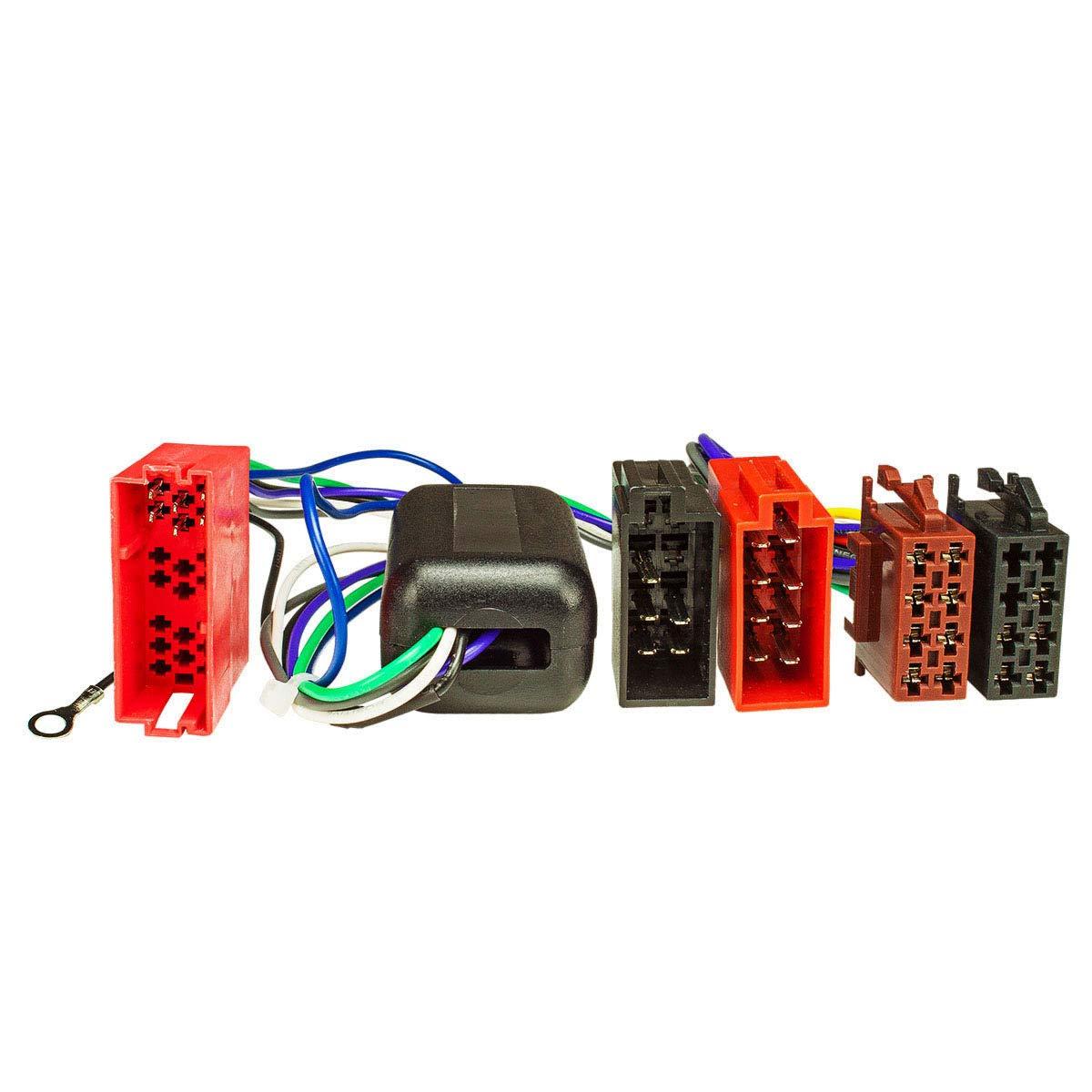 4 x 100 Watt max. Sistema attivo Adattatore Radio Audi A2 A3 A4 A6 A8 mini-ISO