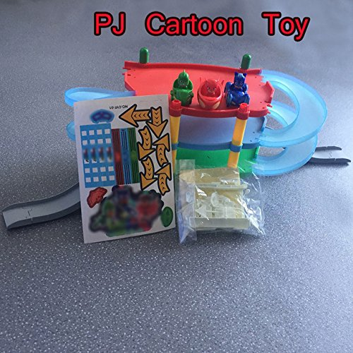 Amazon.com: Toy, Play, Fun, Pj Cartoon Mask 3 Floor Parking Lot Toy Les Pyjamasques Connor Greg Amaya Racing Car Jouet Children Christmas Juguetes Gift, ...