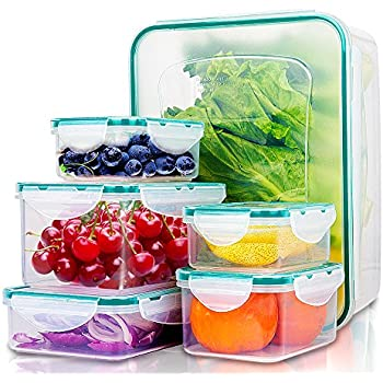 Gentil Food Containers With Lids   Easy Snap Lock And BPA Free Clear Plastic Storage  Container Set