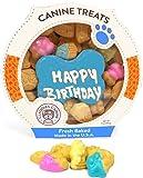 Claudia'S Canine Cuisine Peanut Butter Dog Cookies, 10-Ounce, Happy Birthday, Blue