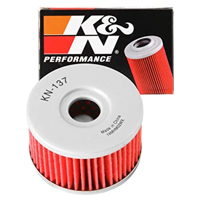 K&N Motorcycle Oil Filter: High Performance, Premium, Designed to be used with Synthetic or Conventional Oils: Fits Select Suzuki Vehicles, KN-137: Automotive