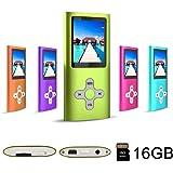 RHDTShop Portable MP3 MP4 Player, Support 32GB Card Maximum, Digital Music Video Media Player (16g green1)