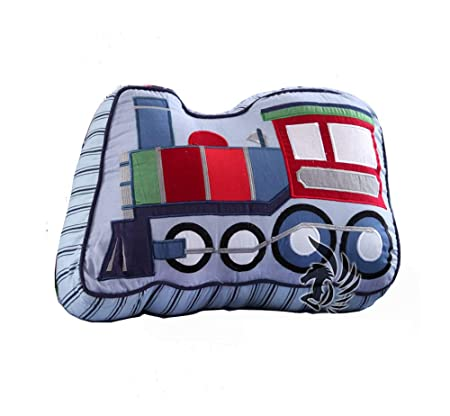 Brandream Train Shaped Pillow Quilted Decorative Pillows for Boys Bedroom