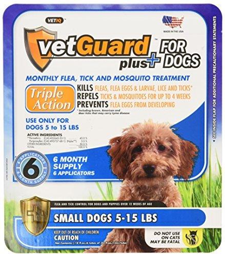 VetGuard Plus Flea & Tick Drops for Small Dogs, 5-15 lbs,...