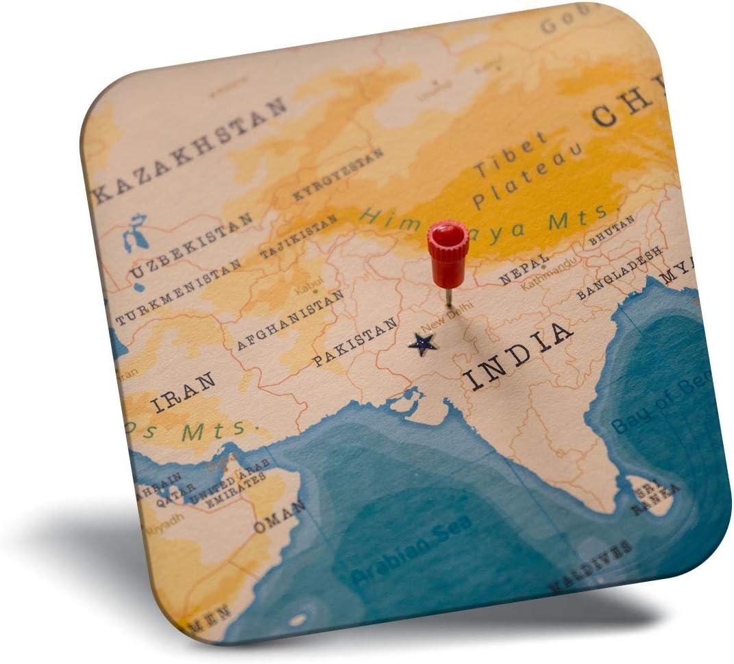 Destination Vinyl ltd Awesome Fridge Magnet - New Delhi India World Map Indian 21937