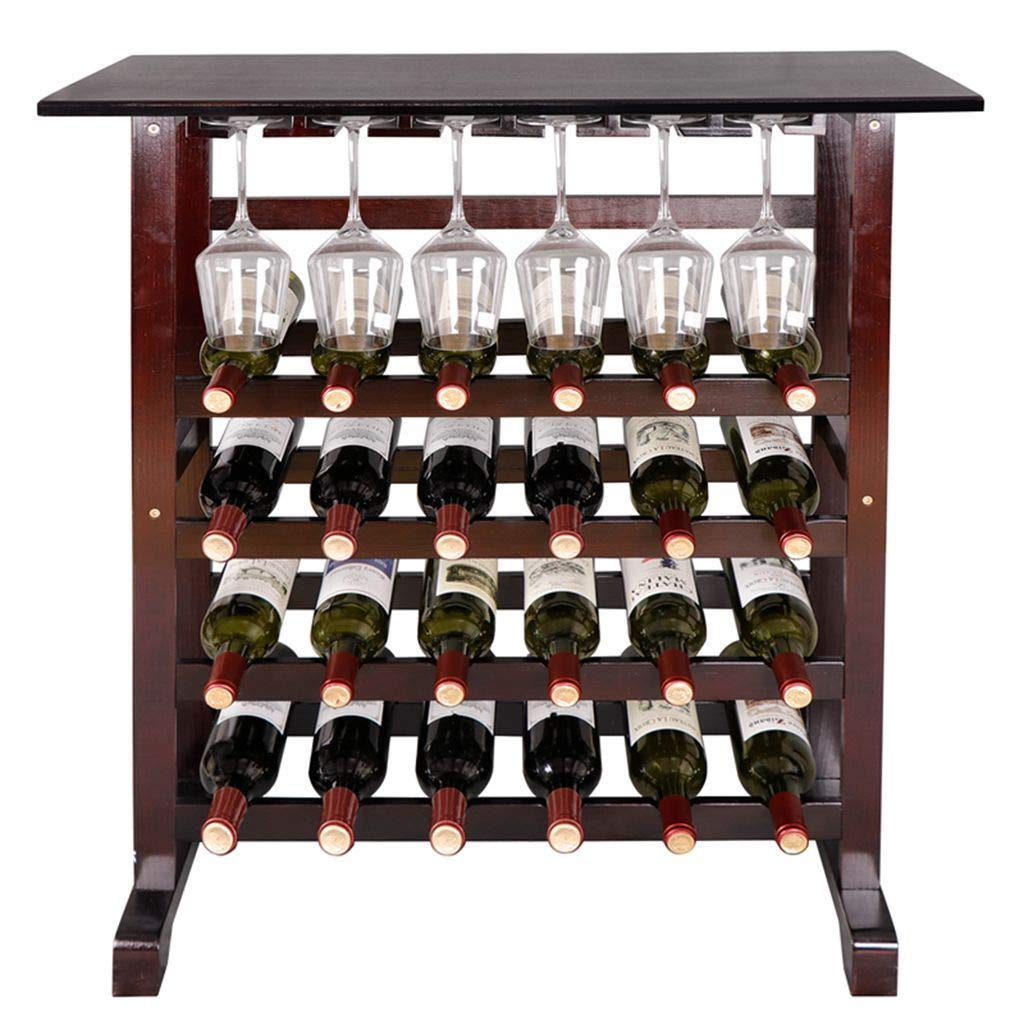 TWINE Wall Mounted Rustic Country Wood and Metal Wine Rack  Holds 4 Bottles f