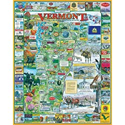White Mountain Puzzles Vermont - 1000 Piece Jigsaw Puzzle