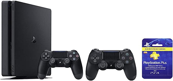 PlayStation 4 (PS4) - Consola Slim 1 TB + Sony - DualShock 4 Black ...