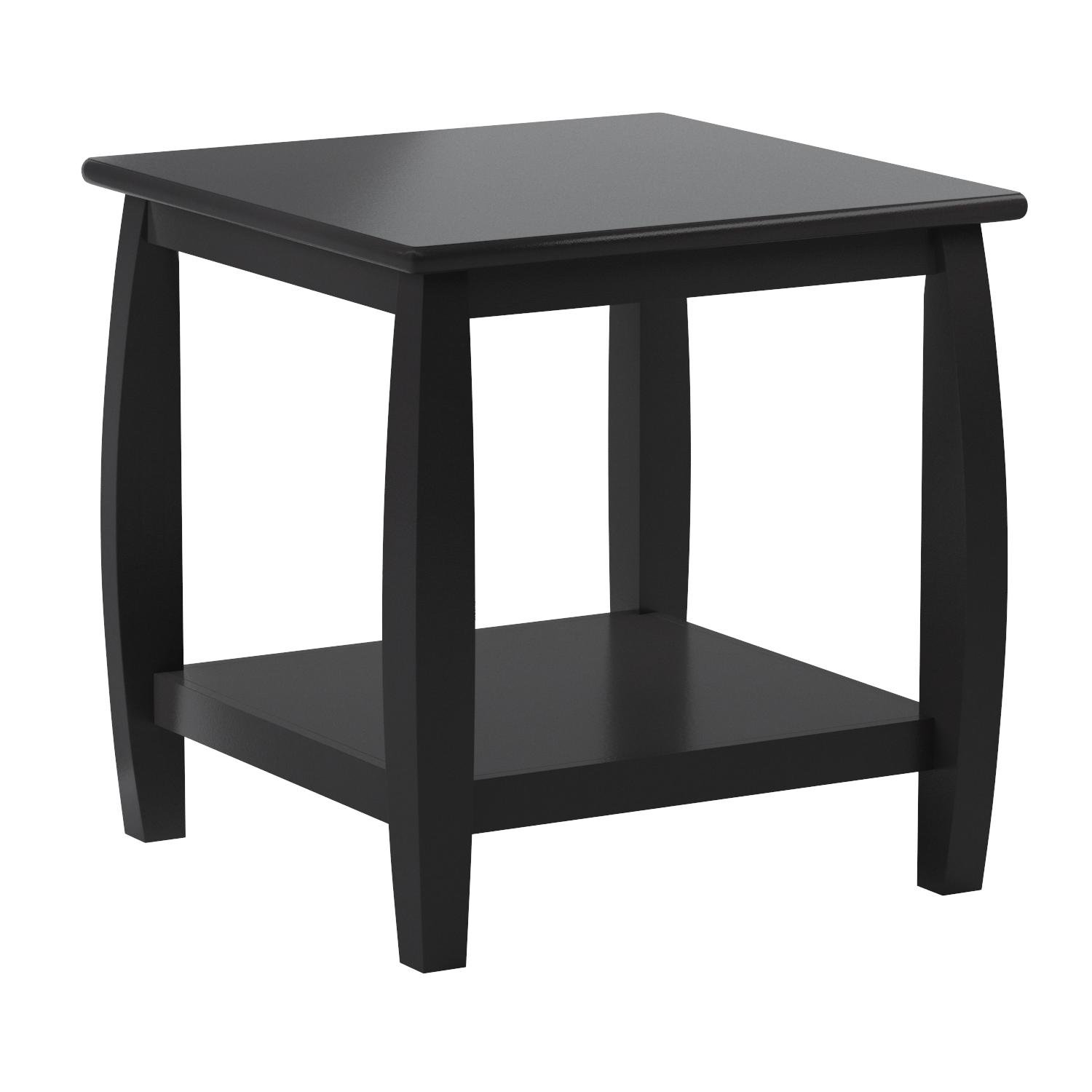 Coaster Wood Top Espresso End Table with Bottom Shelf