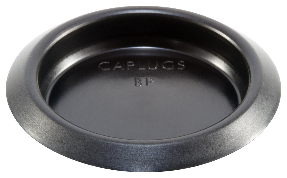 Caplugs 99190807 Button Plug with Recessed Type Heads, Plastic, Hole Size 1.48-1.52'', Metal Thickness .13-.22'', BP-1 1/2-7, black (Pack of 400)