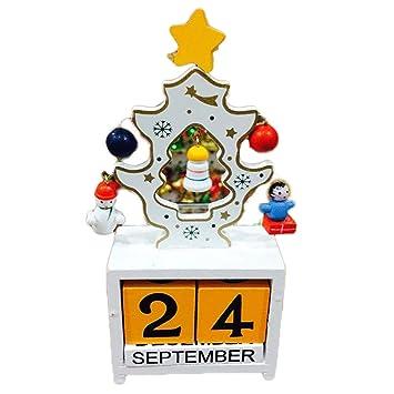 Xiton hölzerner Árbol de Navidad de Calendario de Mesa diseño de ...