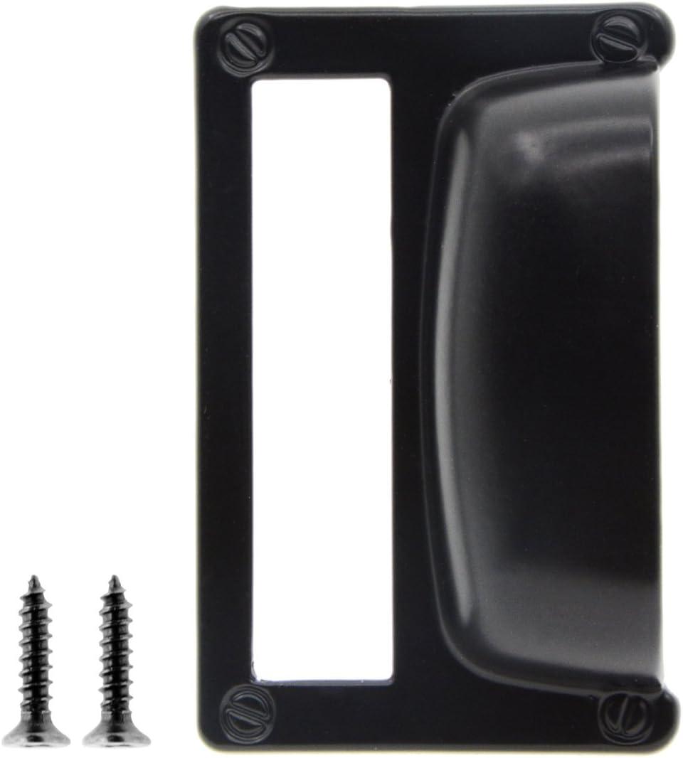 Saim Iron Label Frame Card Holder Cup Pull Handle Drawer Box Case Cabinet Cupboard Carpenter Repair Decoration Hardware Black Pack of 10