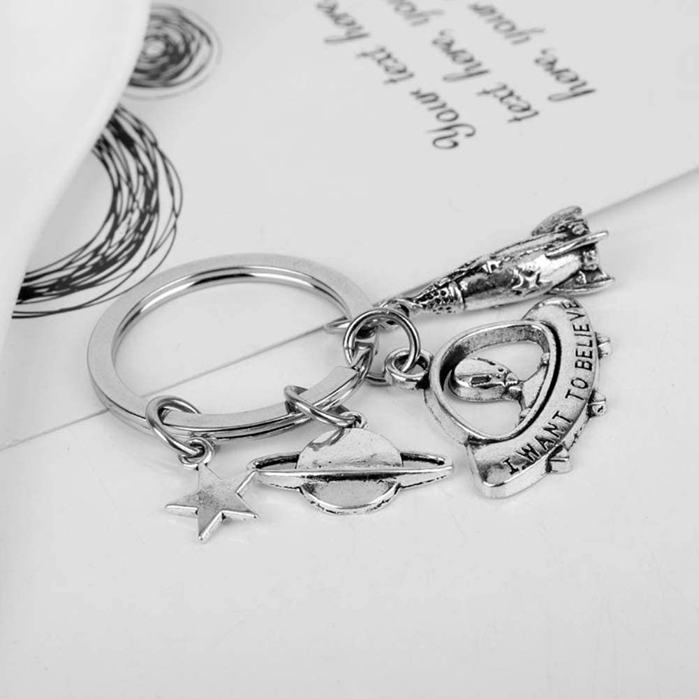Porte-cl/és Cr/éatif Alien Trousseau de Cl/é Pendentif /à Sac Bijoux Accessoire Cadeau pour Hommes Femmes Filles Eudola Porte Clef