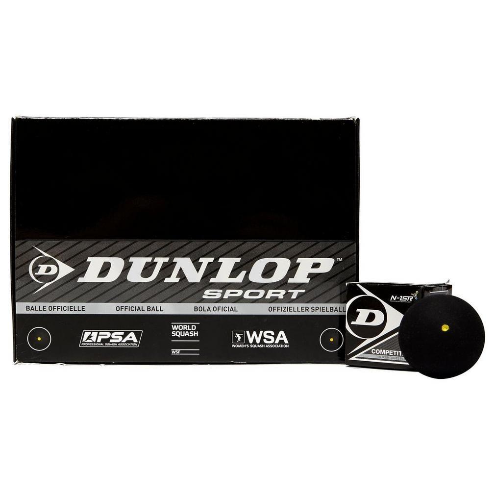 Pelota de squash Dunlop Competition caja de 12único SQBAC